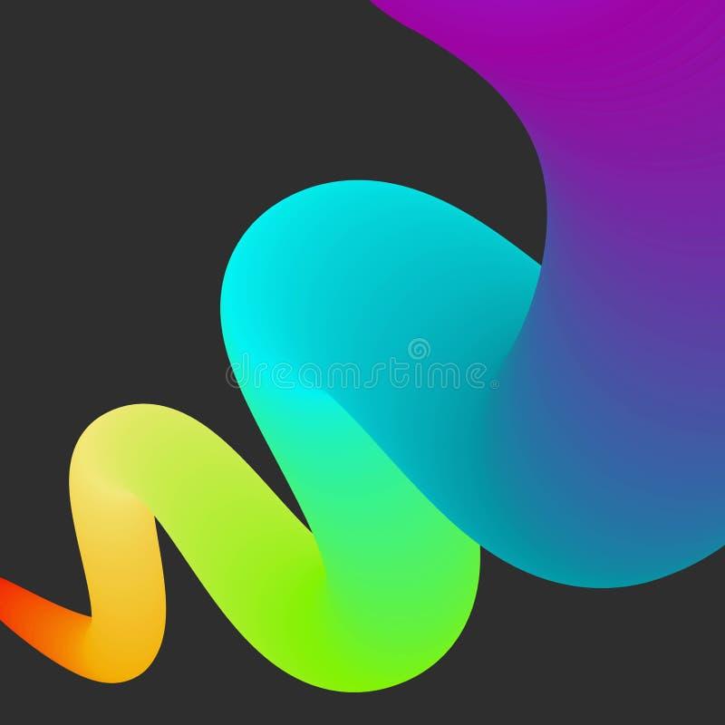 抽象颜色彩虹传染媒介bacground 向量例证