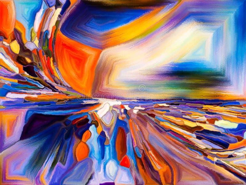 抽象颜色模式 向量例证