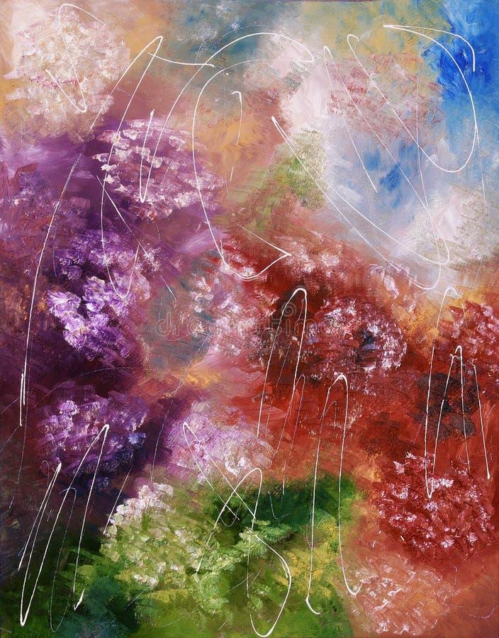 抽象颜色油画飞溅 免版税图库摄影