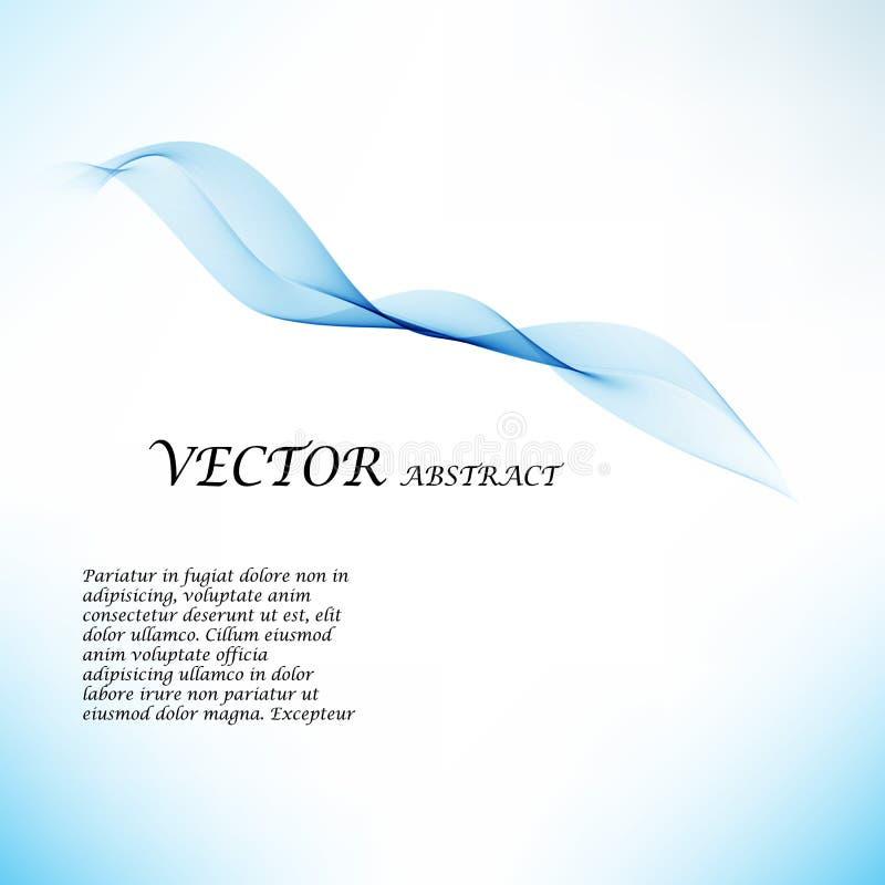 抽象颜色波浪设计元素 蓝色通知 库存例证