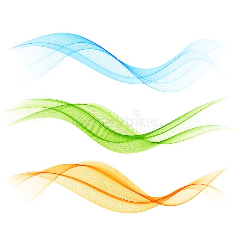 抽象颜色波浪 库存例证