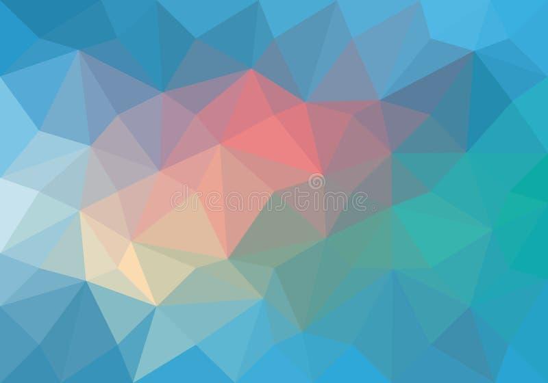抽象颜色淡色多角形传染媒介背景 库存例证