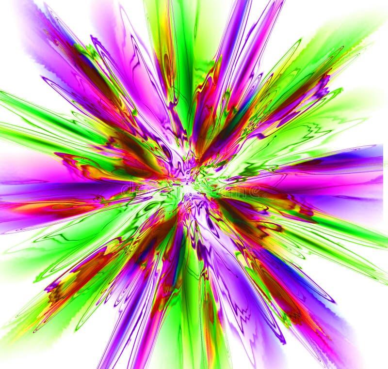 抽象颜色爆炸 库存例证