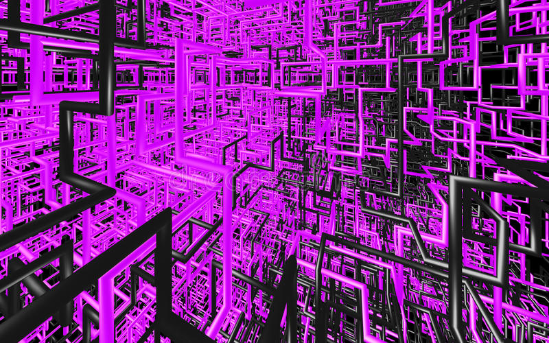 抽象颜色管在坚实背景喜欢 库存例证