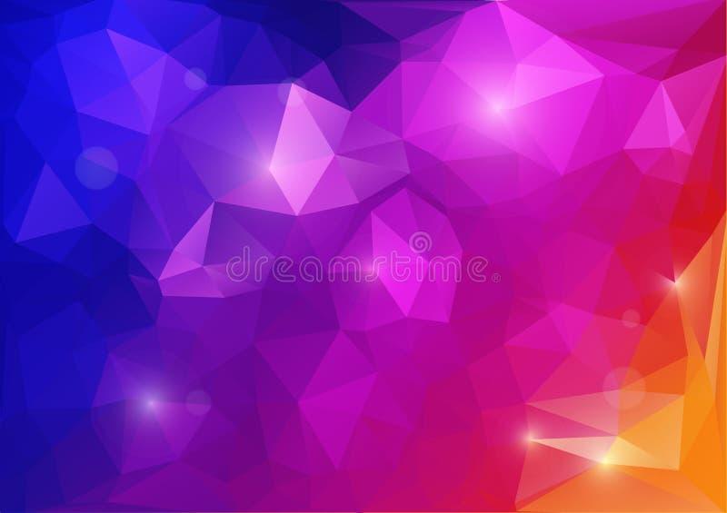 抽象颜色背景 库存例证