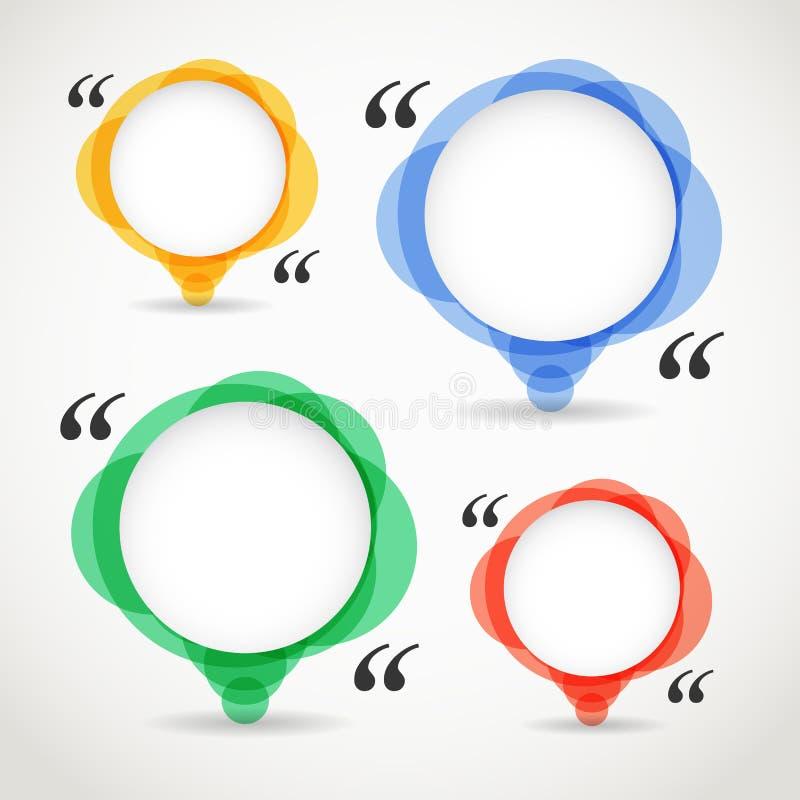 抽象颜色讲话覆盖汇集 库存例证