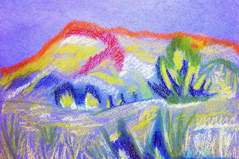 抽象颜色软的淡色绘画 皇族释放例证