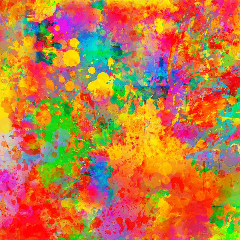 抽象颜色飞溅背景例证 皇族释放例证