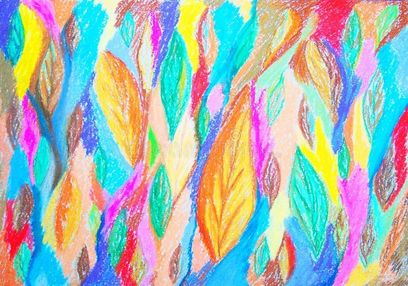 抽象颜色绘画 拉长的表面现有量例证s妇女 皇族释放例证