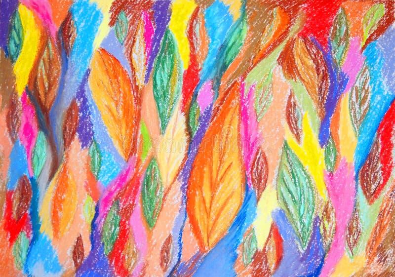 抽象颜色绘画 拉长的表面现有量例证s妇女 库存例证