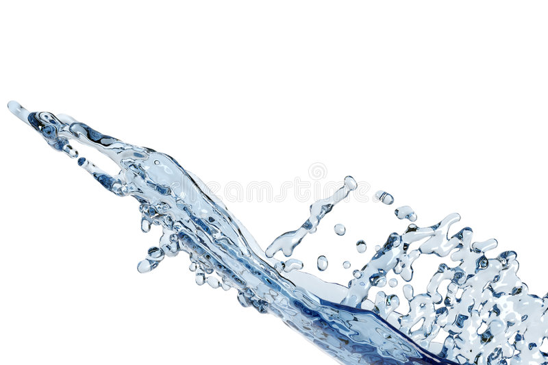 抽象飞溅水 向量例证