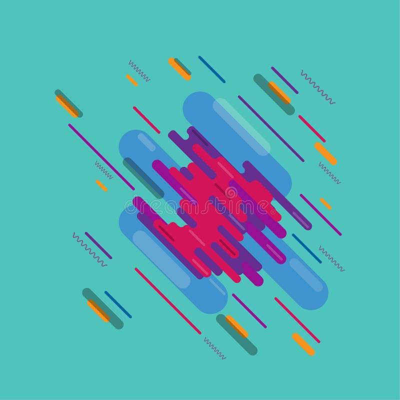 抽象飞溅艺术数字式油漆 皇族释放例证