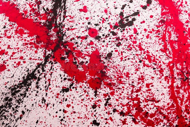 抽象飞溅绘画艺术:与另外颜色Patte的冲程 免版税图库摄影