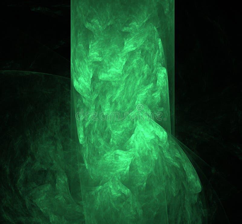 抽象飞碟绿色分数维背景 幻想分数维纹理 abstact艺术深深数字式红色转动 3d翻译 计算机生成的图象 皇族释放例证