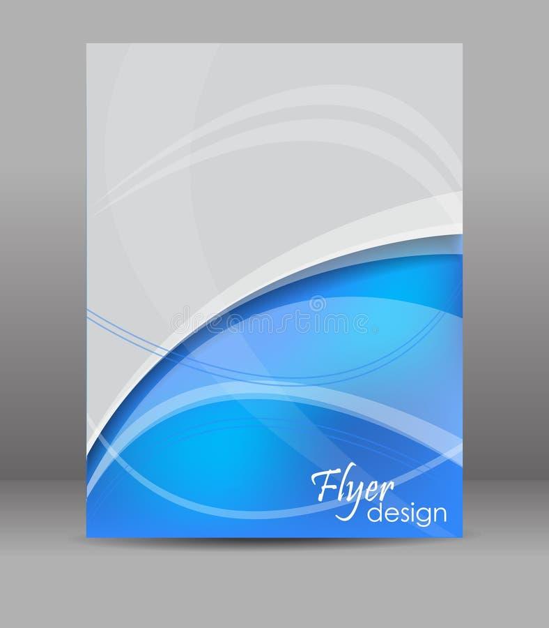 抽象飞行物或小册子模板,设计 库存例证