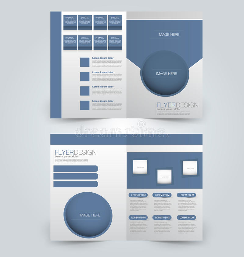 抽象飞行物设计背景 小册子模板 向量例证