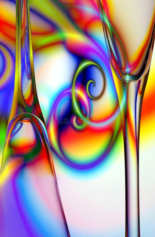 抽象香槟玻璃 免版税图库摄影