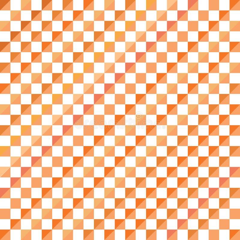 抽象马赛克三角样式背景,橙色几何背景传染媒介例证 免版税库存照片