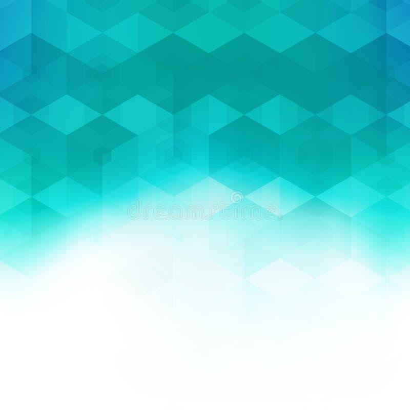 抽象马赛克六角几何样式 充满活力的模板 皇族释放例证