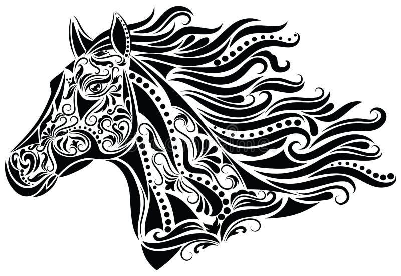 抽象马 向量例证