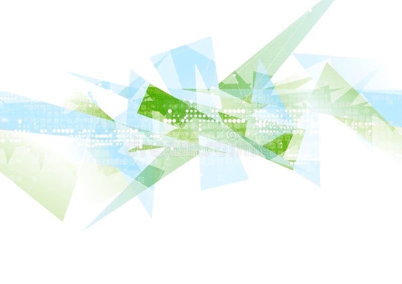 抽象高科技几何多角形形状背景 库存例证