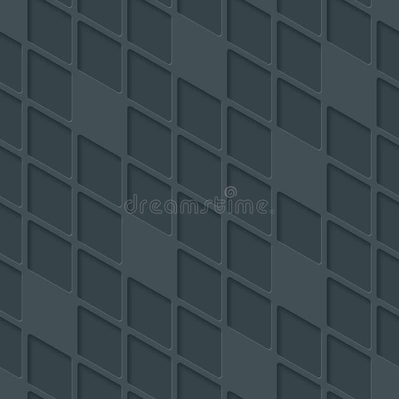 抽象高科技几何无缝的样式 向量例证