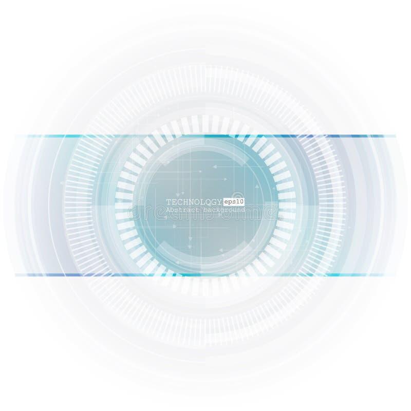 抽象高科技,设计,机器,技术概念 传染媒介抽象未来派技术背景 库存例证