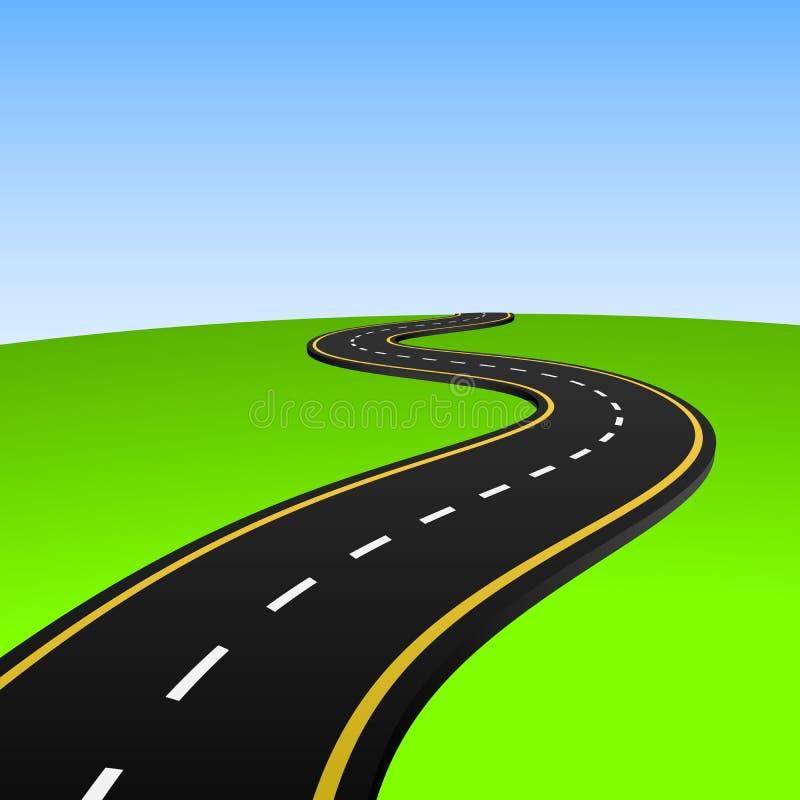 抽象高速公路 皇族释放例证