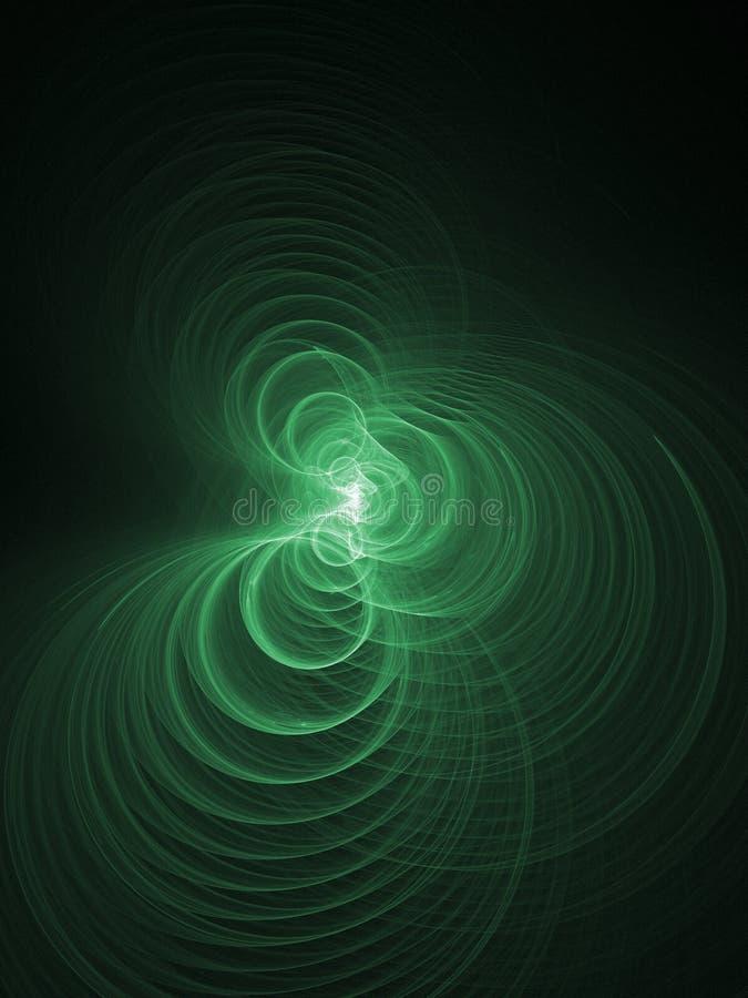 抽象鲜绿色的光 向量例证