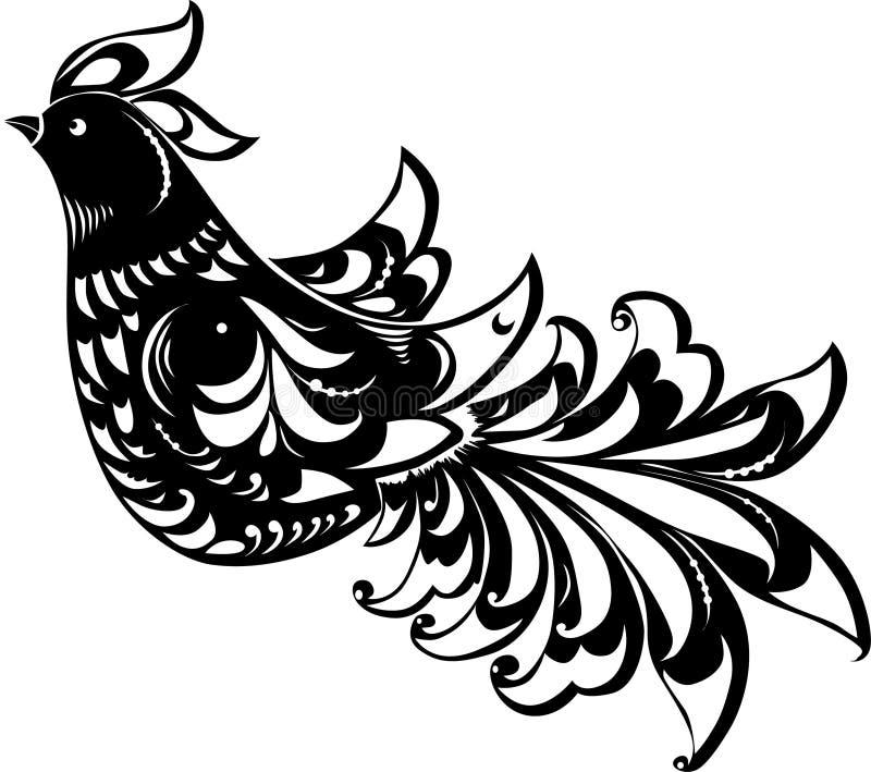 抽象鸟黑色 库存例证