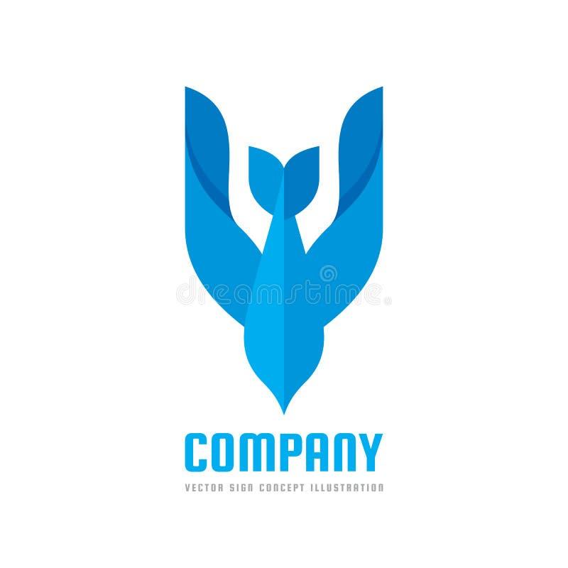 抽象鸟-导航商标模板概念例证 鸠创造性的标志 飞行飞过标志 猎鹰象 库存例证