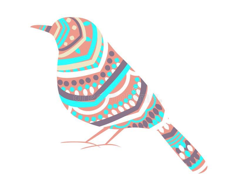 抽象鸟 库存例证