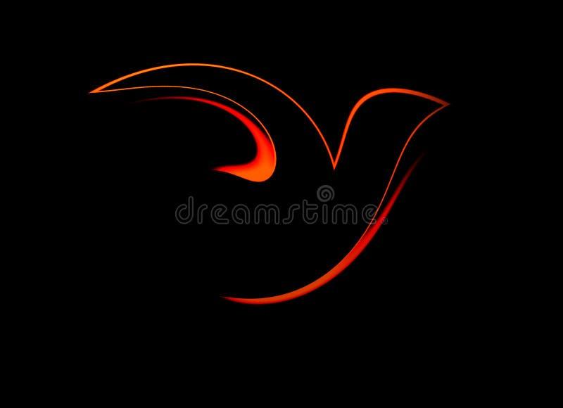 抽象鸽子 向量例证