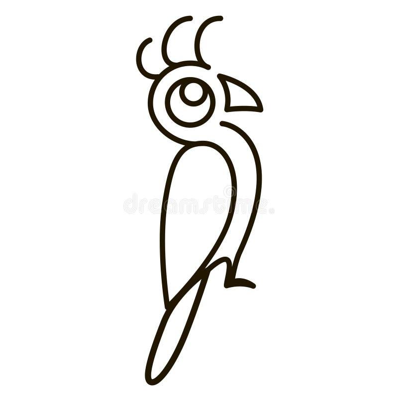 抽象鹦鹉illustation 向量例证
