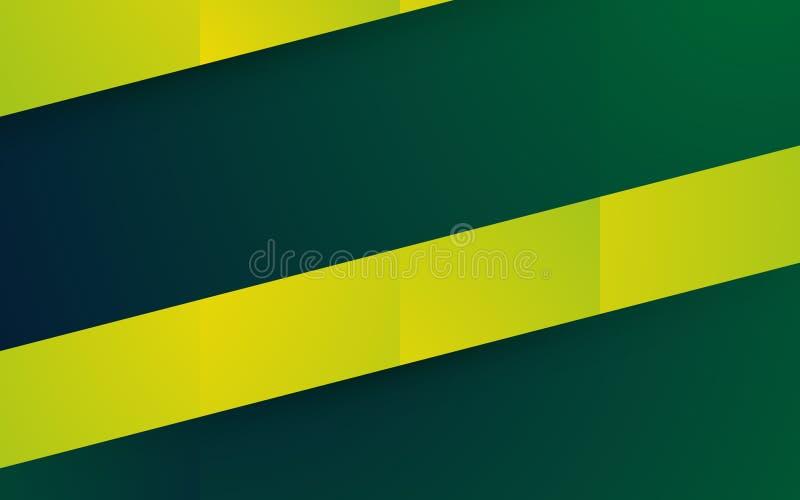 抽象黄绿色形状背景 皇族释放例证