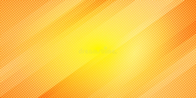 抽象黄色和橙色梯度颜色倾斜线条纹背景和小点纹理半音样式 几何最小 向量例证