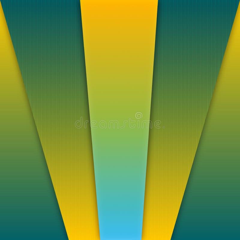 抽象黄色和绿色梯度几何纹理背景 皇族释放例证