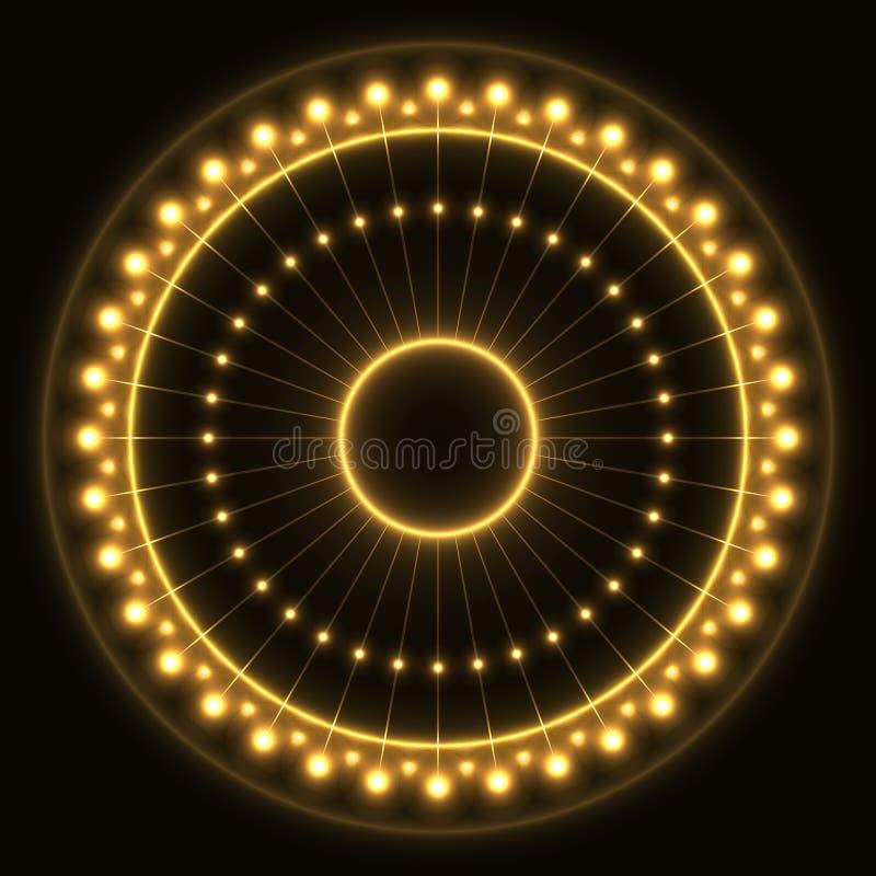 抽象黄色圆环 图库摄影