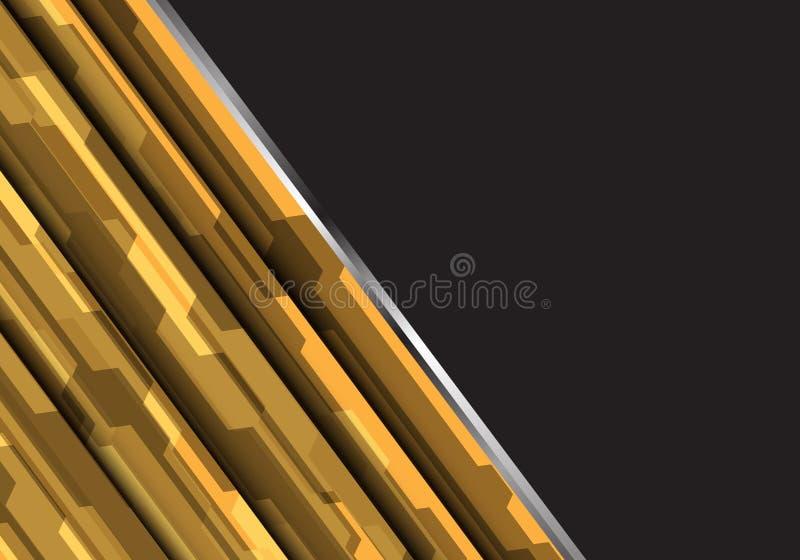 抽象黄色多角形未来派设计现代未来派传染媒介背景 皇族释放例证