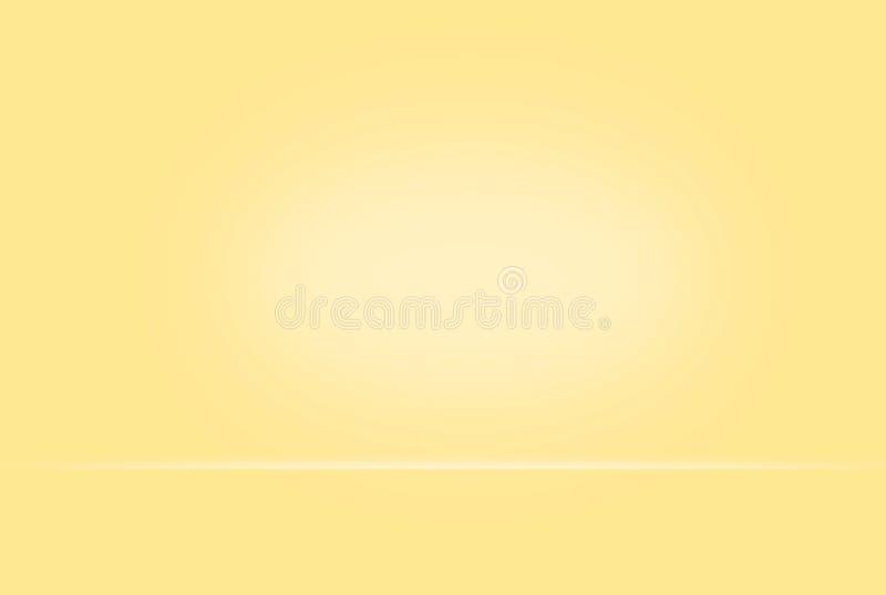 抽象黄色柔和的淡色彩被弄脏的光滑的背景颜色梯度墙壁能半新创造性的概念,增加产品 库存照片