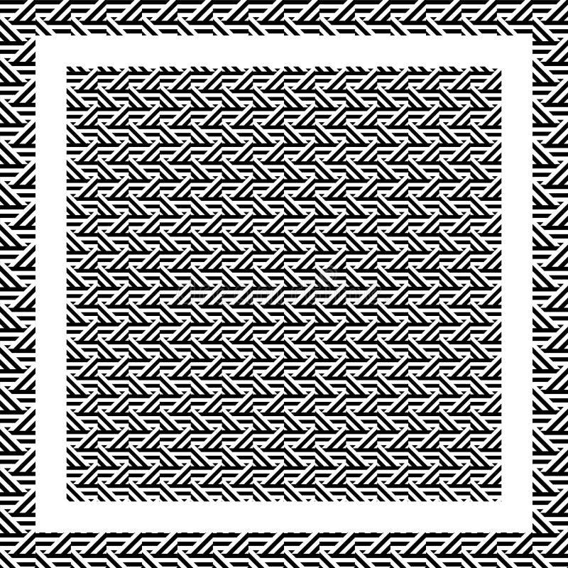 抽象黑白三角线样式背景 向量例证