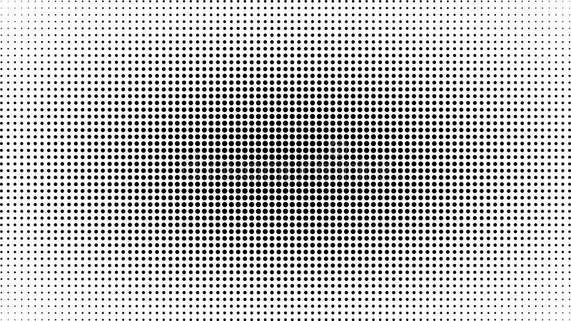 抽象黑白小点背景 可笑的流行艺术样式 光线影响 与小点的梯度背景 皇族释放例证