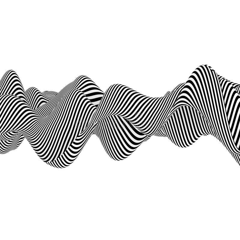 抽象黑白线 库存例证