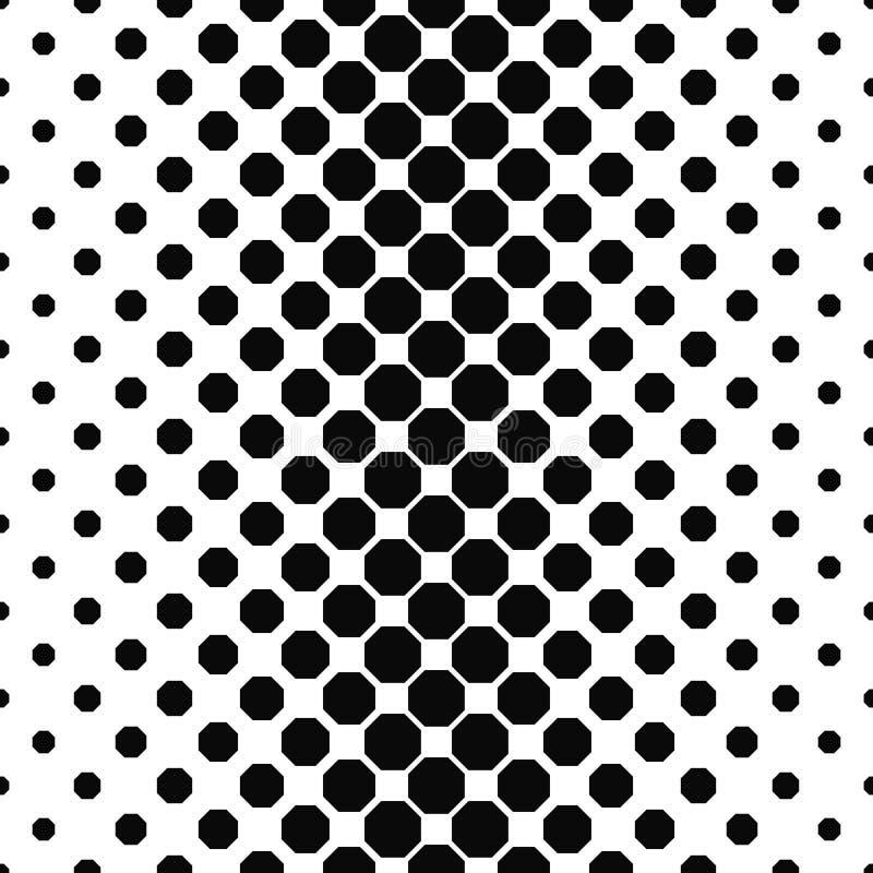抽象黑白色八角形物样式背景 向量例证