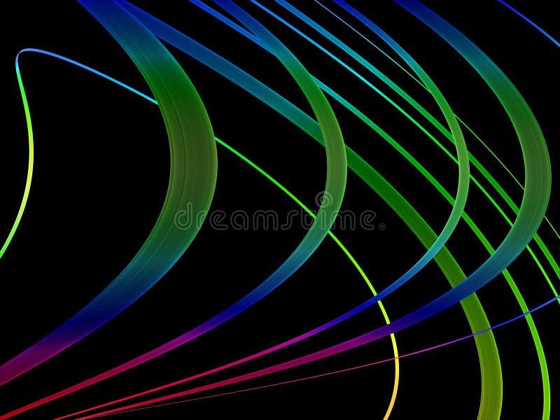 抽象黑色五颜六色的漩涡 向量例证