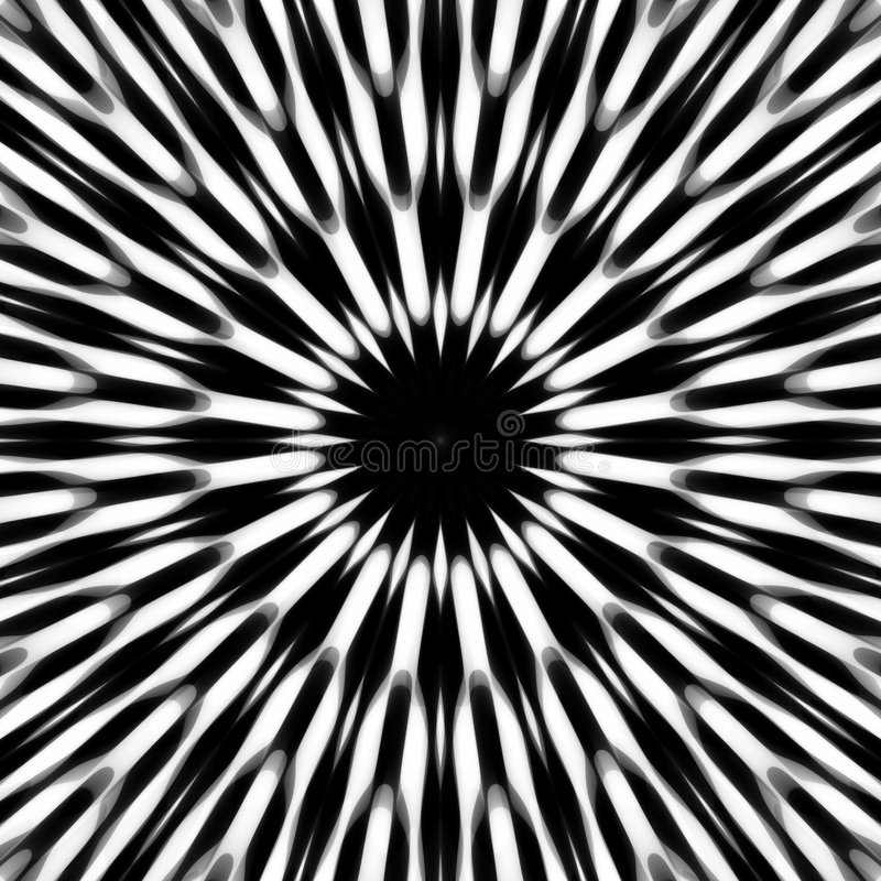 抽象黑色模式白色 库存例证