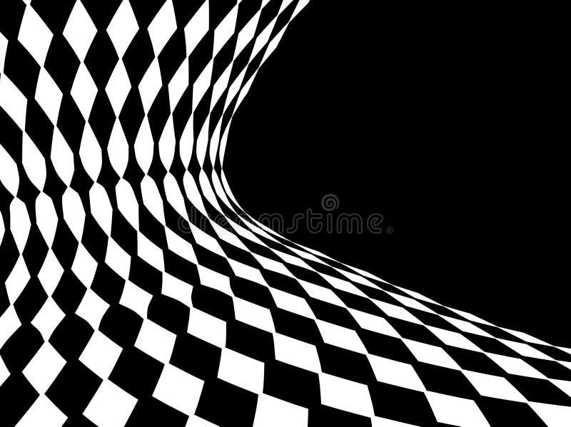 抽象黑色白色 库存例证