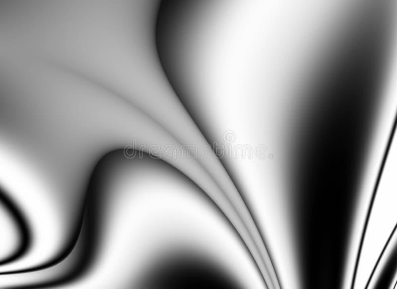 抽象黑色线路波浪的丝绸 皇族释放例证