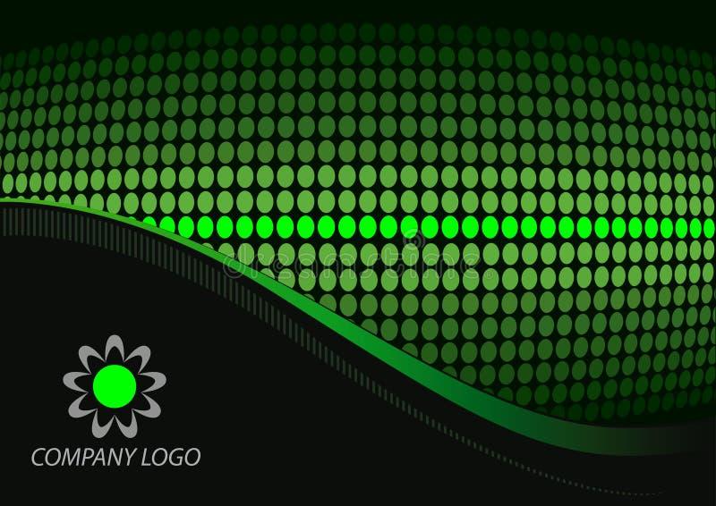 抽象黑色绿色 向量例证