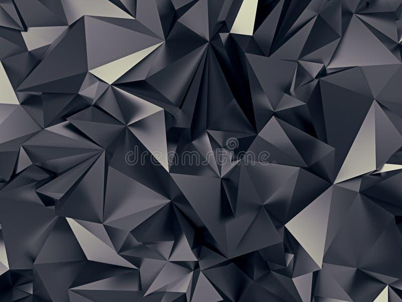 抽象黑色背景 库存例证